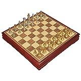 Zyj-Chess Ajedrez de Viaje El ajedrez de Madera Set con el imán Carrera de Cierre de ajedrez magnético Set con Junta Que se Convierte en un Compartimiento de Almacenamiento Juego de ajedrez