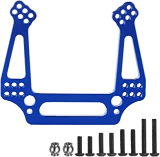 1-Pack Aluminum Front Shock Tower Upgrade Parts for 1/10 Traxxas 2WD Slash Stampede Rustler VXL Replace 3639 Blue-Anodized
