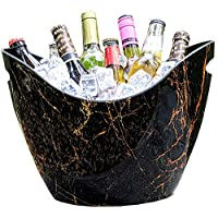 BREKX Dark Marble Curved Beverage Tub & Wine Chiller - 8 Quarts 141[並行輸入]