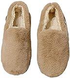 レディース ドライビングシューズ スリッポン モカシン ボア ふわふわ 履きやすい 柔らかい 暖かい 冬靴 軽量 ファッション冬靴 (カーキ,23.5)