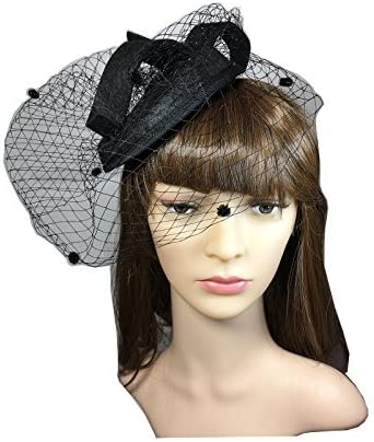 YSJOY Elegant Veil Mesh Feathers Blssom Floral Fascinators British Derby Hat