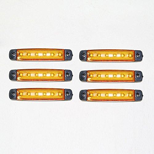 Universel 6 x 12 V LED Orange Jaune clair SMD Indicateur Side Marker lumière