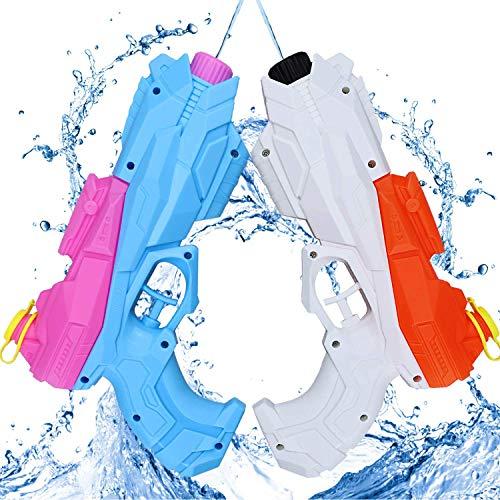 aovowog Pistolas de Agua Chorro de Agua Juguete para Niños Super Soaker Wate Gun para Fiestas de Verano Playa Piscina para Infantil Adultos(2 Pack)