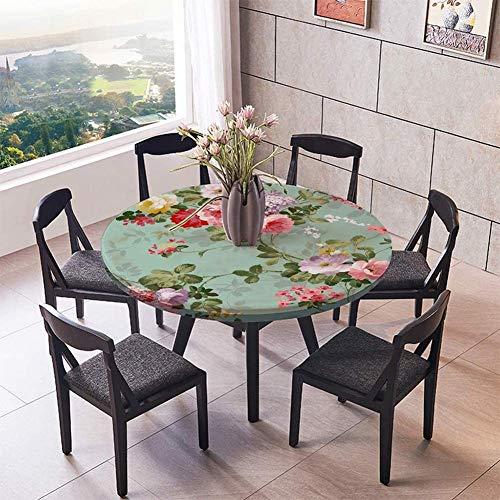テーブルクロス 円形 撥水 Jnvny 防水ラウンドテーブルクロス プラスチックテーブルカバー プロテクター ラウンドイースターテーブルクロス 屋外テーブルクロス