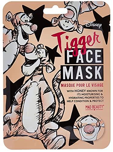 MAD Beauty Mascarilla Facial Disney Tigger, Disney Animal Face Mask Tigger, Translúcido, 0.42 Mililitro