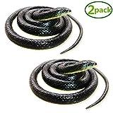 Homdipoo Realistic Fake Rubber Snake Black...