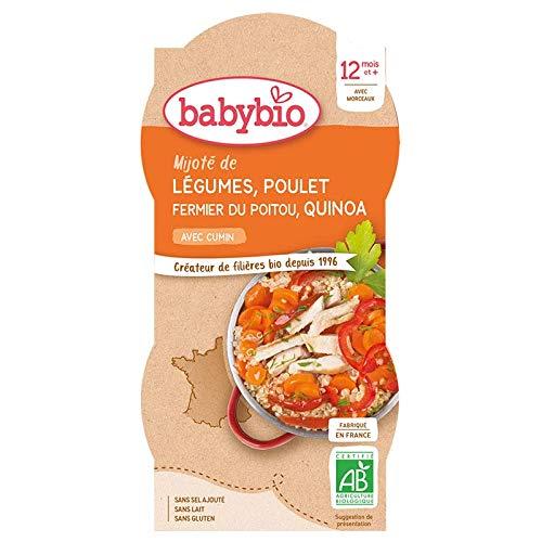 Babybio Bols mitonné de légumes, poulet et quinoa 2x200g