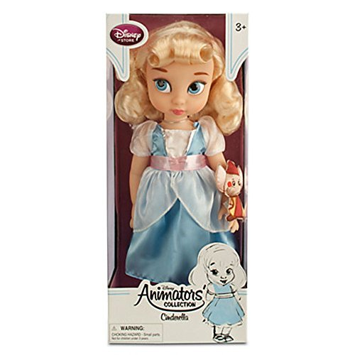 Disney Animators' Collection Princess Cinderella Toddler Doll - 16 with Plush Friend Jaq...