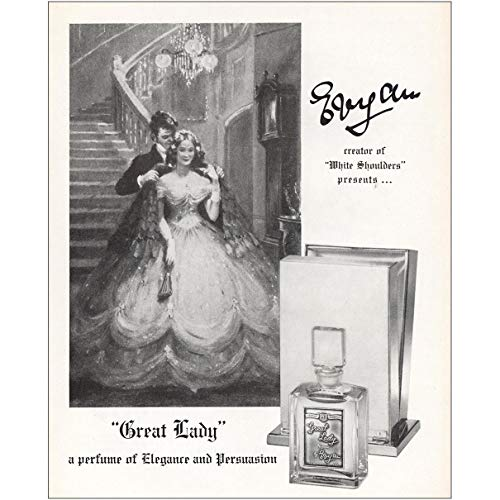 RelicPaper 1958 Great Lady Perfume: Creator of White Shoulders, Evyan Print Ad