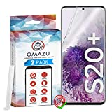 OMAZU 3D Flex Panzerfolie TPU Schutzfolie [2 Stück] compatibel mit Samsung Galaxy S20 Plus - Hüllenfre&lich - Fingerabdruck kompatibel - Anti Kratzer Bildschirmschutz- HD transparant – Kein Glas