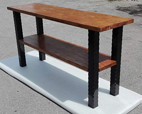 Robuster Vintage Tisch aus Massivholz Großer Schreibtisch handgefertigte Möbel schwere Werkbank Einheit