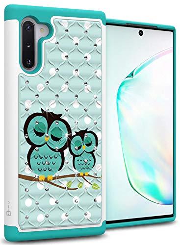 CoverON Hybrid Bling Aurora Series for Samsung Galaxy Note 10 Case, Cute Owl