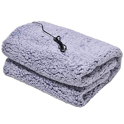 Car Heating Blanket, Portable and Adjustable, 110 * 70cm USB Blanket Single Winter Warmer Double-Sided Cotton Velvet Machine Washable Waterproof for Home Sofa Travel Office Indoor and Outdoor