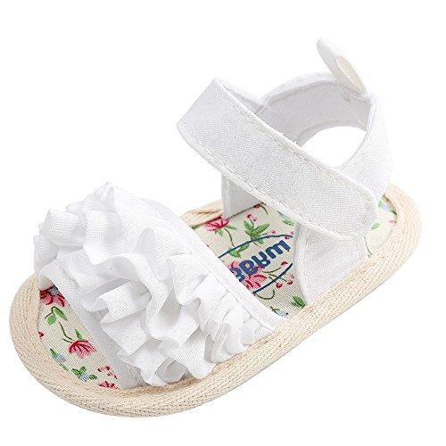 FRAUIT Sandalen Baby Kinder Mädchen Gitter Sommer Prinzessin Schuhe mit Blumen Kinder Strand Römische Schuhe Sandale aus Glattleder Ausstattung Lotusblatt Hausschuhe Freizeit