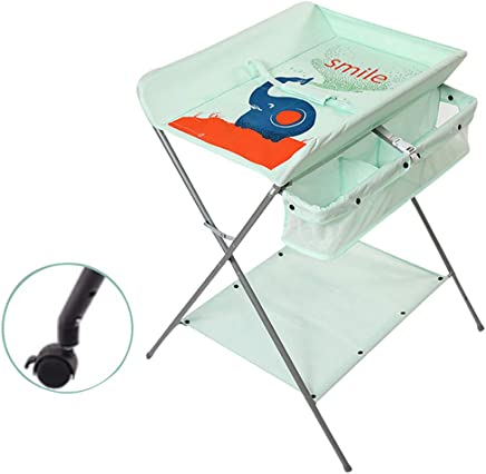 JINYANG Baby Shower and Changing Table Baby Clothes Diaper Changing Table Newborn Massage Table Storage Foldable Safety Nursery