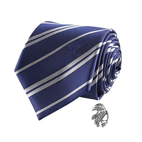 Cinereplicas - Harry Potter - Krawatte mit Anstecknadel - Deluxe Edition- Offiziel lizensiert - Ravenclaw - Einheitsgröße – 100 % Mikrofaser – Geliefert in Einer Geschenkbox - Blau und Grau