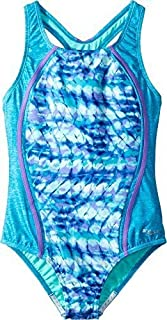 Speedo Girls Swimsuit One Piece Thick Strap Racer Back Printed