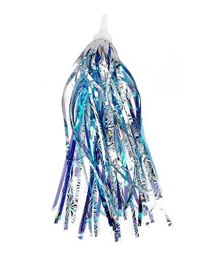 HugeStore 2er Kinderfahrrad Lenkerfransen Streamer Bändchen Sparkle Tassel Ribbon Kinderfahrrad Zubehör Blau