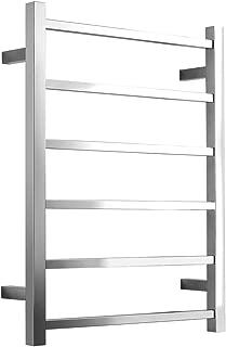 SHARNDY Towel Warmers Heated Towel Rail Square Bars ETW13 Stainless Steel Towel Racks for Bathroom (Polish Chrome)