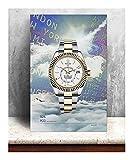 CBYLDDD Rolex Men Watches HD Modular Pictures Canvas Baiyun Pintura Arte de la Pared Pósteres Imprimir Moderno Sala de Estar Decoración de la casa Marco 16x24in Sin Marco