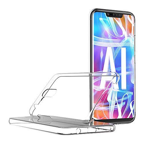 AICEK Compatible Huawei Mate 20 Lite Hülle, 360°Full Body Transparent Silikon Schutzhülle für Huawei Mate 20 Lite Case Durchsichtige TPU Bumper Huawei Mate 20 Lite Handyhülle (6,3 Zoll) - 5