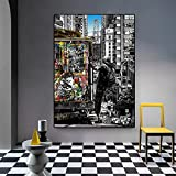 HD Art on Canvas Nature-[London City Street View] Canvas Prints Personalised-Modern Decorative Artwork Canvas Wall Art for Home 40X60cm Frameless