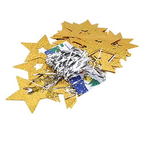 GOMYIE Glitter Stars Plastic Confetti Wedding Party Decor and Table Decor Birthday Party Banner(Gold)
