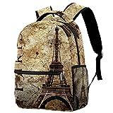 delayer Mochila de viaje unisex vista de Paris Mochila para portátil al aire libre de moda mochilas para niños y niñas