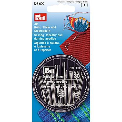 Prym 128,600 Näh-Stick-Stopfnadelsortiment Tapisserie und gewagte Nadeln, Steel, Silber, Eine Grösse, 30 Count