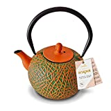 Charbrew Oliv - Orangene Gußeiserne Teekanne 800ml Teekanne/Teekessel
