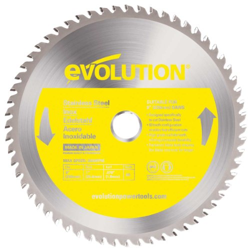Evolution Power Tools 230BLADESS Stainless Steel Cutting Saw Blade, 9-Inch x 60-Tooth