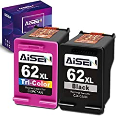 Packaged Contents: Remanufactured HP ink cartridge 62 for HP 62XL 62 XL ink cartridges combo pack(1 Black and 1 Tri-color) Compatible Printers: ENVY 5540, 5541, 5542, 5543, 5544, 5545, 5547, 5548, 5549, 5640, 5642, 5643, 5644, 5660, 5661, 5663, 5664,...