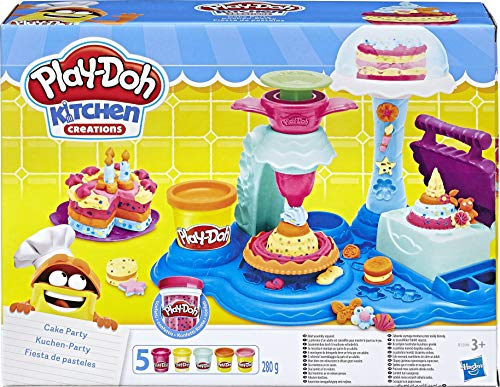 Play-Doh Hasbro B3399 Cake Party, Mehrfarbig