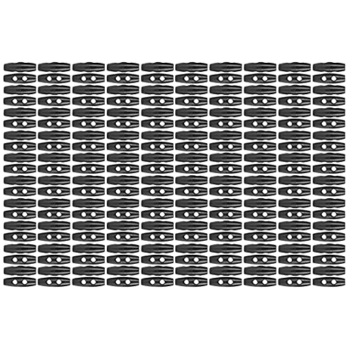 200 Piezas de Botones de Palanca, Accesorios de Ropa de Bricolaje Suministros de Artesanía de 2 Agujeros Aptos para Costura de Bricolaje Manualidades Hechas a Mano Decoraciones de Ropa de 30 Mm