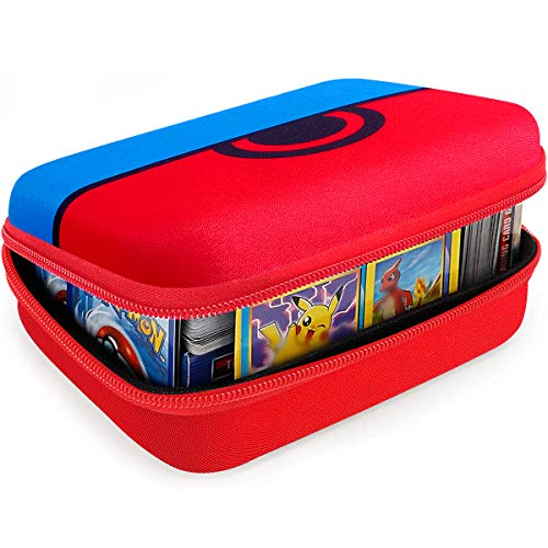 Cards Holder Compatible with PM TCG Cards, C.A.H, Phase 10 Card Game, Card Game Case Storage Holds Up to 400 Cards. Removable Divider and Hand Strap Offered - Carton