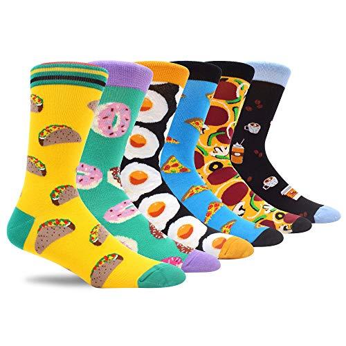 MAKABO Gracioso Calcetines de mujer Novela Ocasionales Divertidos Impresos de Algodón de Comida Pizza Huevo escalfado Calcetines Vestido para de Colores de moda