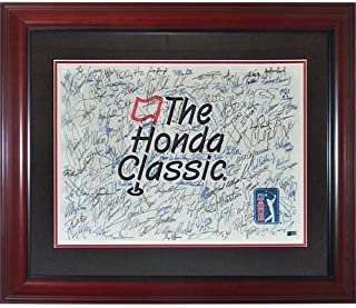 Honda Classic Entire Field Autographed Deluxe Framed Pin Flag - Tiger Woods, Fowler, Mickelson