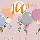 Belly Button Designs BE049 Carte d'anniversaire 100 ans avec gaufrage, film et cristaux