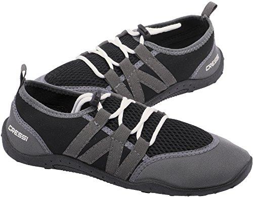 Cressi Elba Pool Shoes - Scarpette Adatti per Mare, Spiaggia, Barca, e Sport Acquatici Vari, Unisex Adulto, Nero/Grigio 48