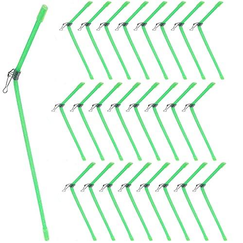 25 Pezzi Anti Tangle Metallo Anti Tangle da Pesca Anti Tangle Metallo anti Groviglio Piegato Attrezzatura da Pesca Anti Groviglio Connettore Bilancia da Pesca Accessori per Pesca All'Aperto (Verde)