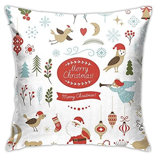 Funda de cojín de Navidad Icons para sofá, decoración de sofá, regalo de amistad (45,7 x 45,7 cm)