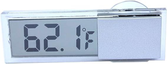 ACAMPTAR Tipo de Ventosa LCD Termometro Digital montado en vehiculos Celsius Fahrenheit
