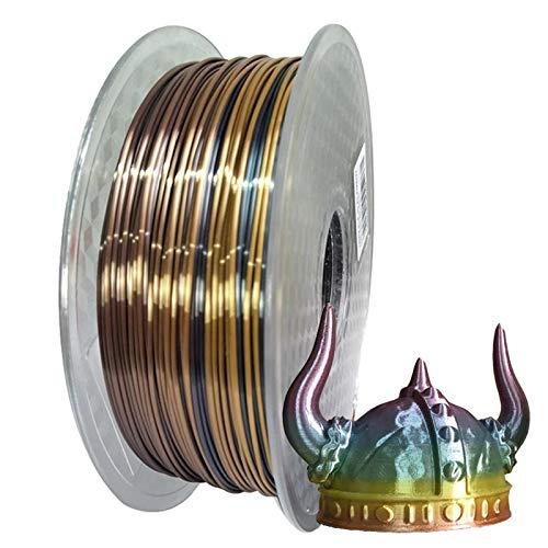 QingH yy 3D filament Silk Multicolored Rainbow PLA 3D Printer Filament, 1.75mm PLA Fast Color Change 3D Printing Material 1kg Spool (2.2lbs) DYCS0820 (Color : B(250g))