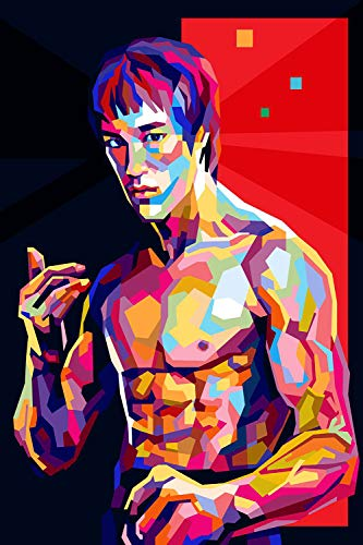 Coobal Bruce Lee is strong Martial Artist Wall Art for Bedroom 30,5 x 40,6 cm Wall Art for Living Room for Bedroom ungerahmt
