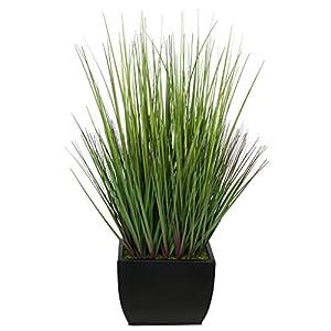 House of Silk Flowers Artificial 28-inch Grass in Medium Rectangle Zinc