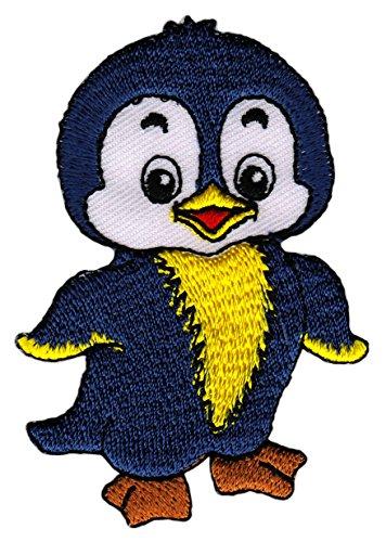Patch Pinguin Vogel Baby Aufnäher Bügelbild Flicken Applikation 5,0 x 7,5 cm