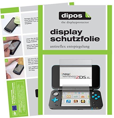 dipos I 6X Schutzfolie matt kompatibel mit Nintendo 2DS XL Folie Displayschutzfolie