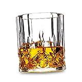 Gafas de whisky, vidrio de whisky de cristal libre de plomo, 300 ml, regalo perfecto para los amantes del whisky, conjunto de 4