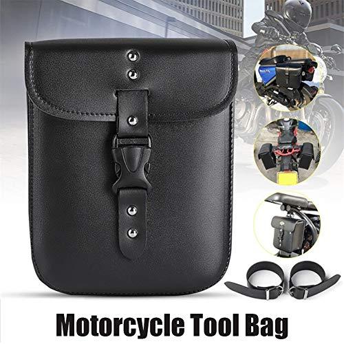 LAOOWANG Motorrad Schwarz Leder Tasche Sattel Aufbewahrungsbox Werkzeugkoffer Seitenkoffer Teile Kit wasserdichte Motorrad Seitentasche