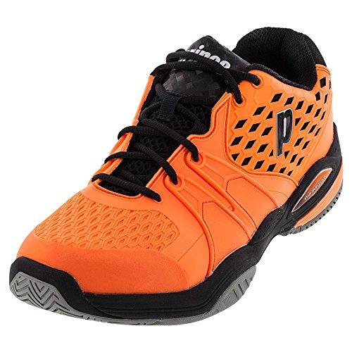 Herren Warrior Tennis Schuhe Orange und Schwarz